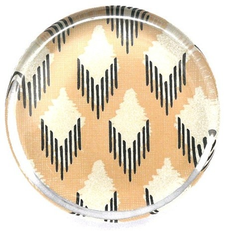 Rose + Ink Ikat Glass Paperweight contemporary-desk-accessories