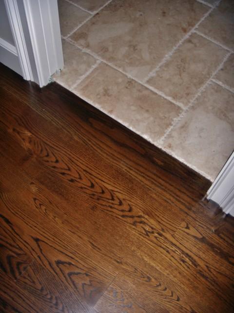 Thresholds for tile floors