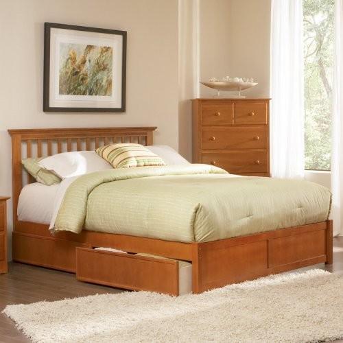 Mission Platform Bed traditional-beds