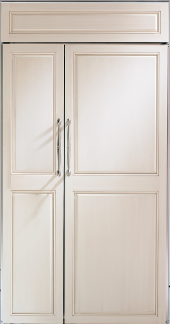 """GE Monogram 42"""" custom panel side-by-side refrigerator - Traditional - other metro - by Monogram ..."""