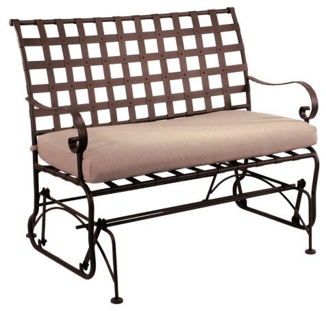 O W Lee Classico Wrought Iron Setee Glider Traditional Outdoor Stools And Benches By