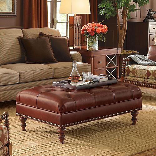 Cambridge Ottoman - Frontgate traditional-footstools-and-ottomans