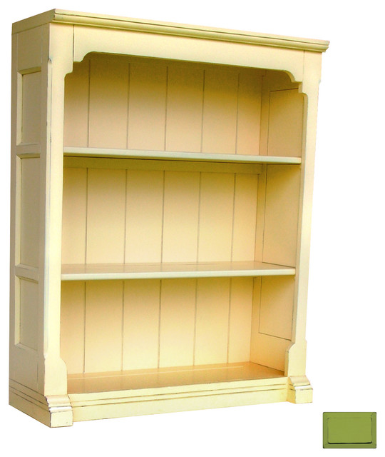 Cottage Style Open Hutch / Bookcase, Green - Farmhouse - Filing Cabinets - by Custom Furniture World