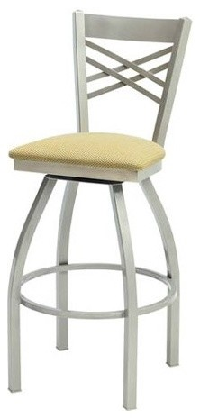 "Melissa Anne Cross Back Swivel Barstool (24"" - 36"" Seats) (Set of 3) modern-bar-stools-and-counter-stools"
