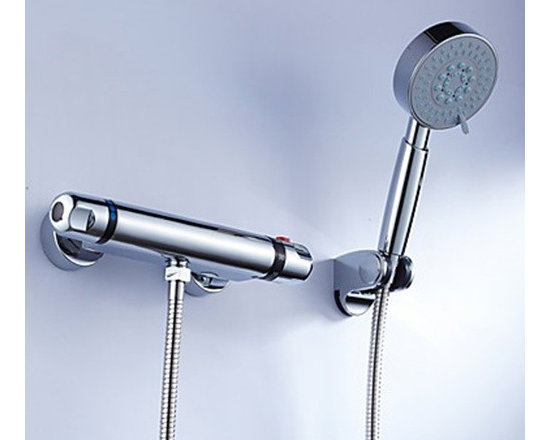 Shower Faucets - Brass Thermostatic Shower Faucet with Handshower--FaucetSuperDeal.com