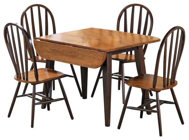 Modern Dining Room Sets With Leaf Pc Country Oak Wood