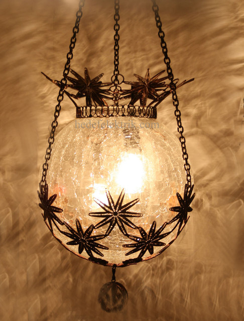 Turkish Style Ottoman Glass Pendant Lighting 20cm