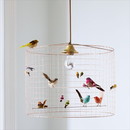 Birdcage Chandelier eclectic kids lighting