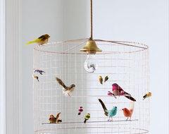 Birdcage Chandelier eclectic-kids-lighting
