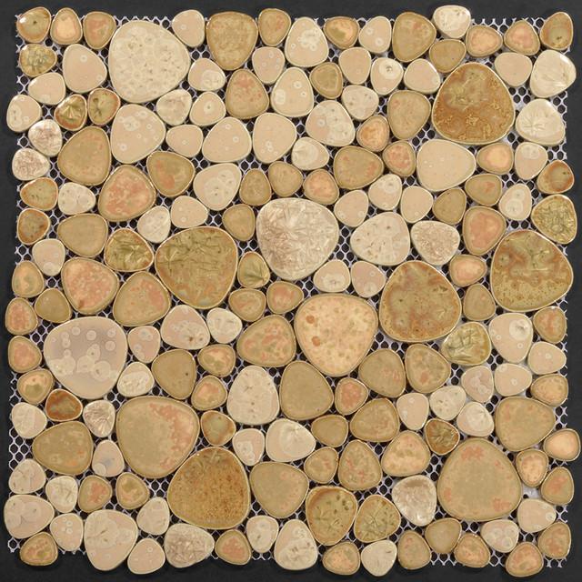Porcelain Pebble Tile Mosaic Swimming Pool Tile Flooring Kitchen