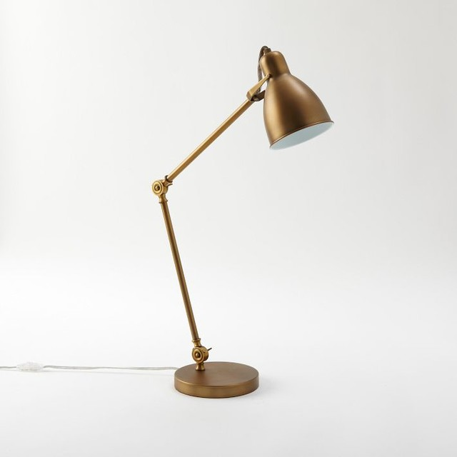 task table lamp antique bronze modern desk lamps by west elm