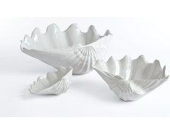 Beachside Clam Shell Bowl- Small, Medium, & Large beach-style-serving-bowls