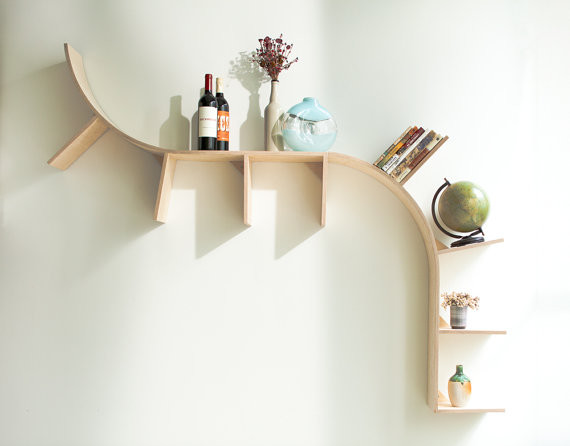Modern Arched Bookshelves By Perfekte Velle contemporary wall shelves