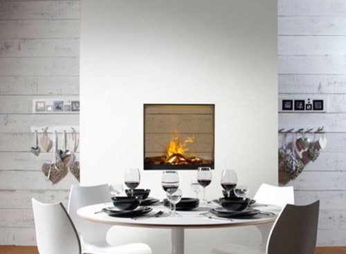 Does an electric wall mount see through fireplace exist