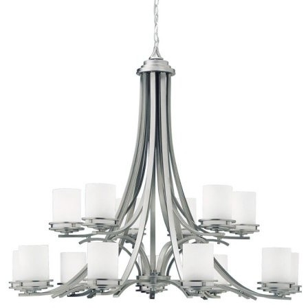 Kichler Hendrik Chandelier - 42.5W in. Brushed Nickel contemporary-chandeliers