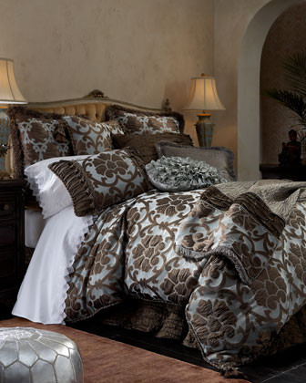 Austin Horn Collection Oxford Bed Linens European Sham w/ Loop Fringe traditional-pillowcases-and-shams