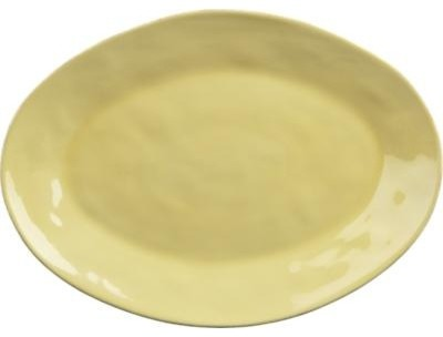 """Marin Yellow 20""""x14.5"""" Oval Platter contemporary-platters"""