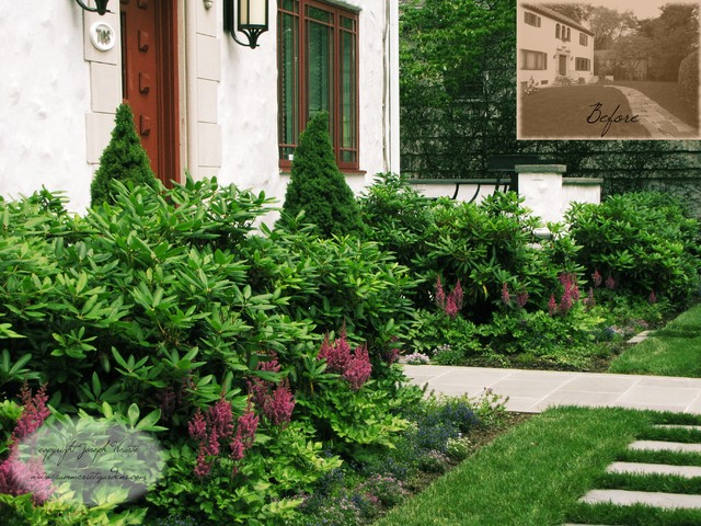 Front Yard Landscaping Project in NY traditional-landscape