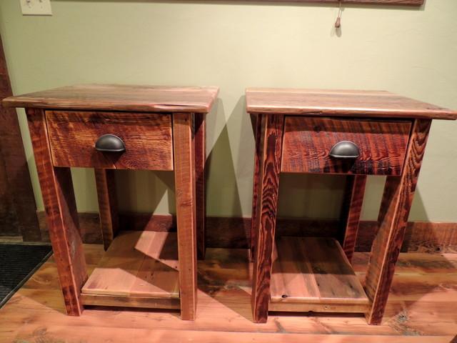 barnwood bedroom furniture rustic nightstands and bedside tables