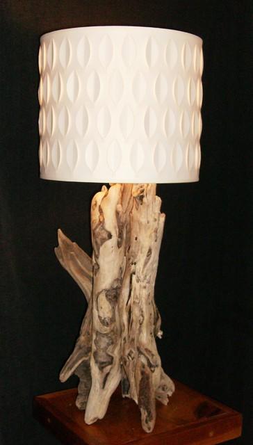 Driftwood lamps lampes de bois flott ou bois de mer - Lampe de table bois ...