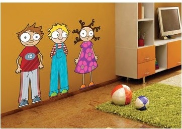 Ludo Eliot, Ludo and Lou Wall Decal modern kids decor