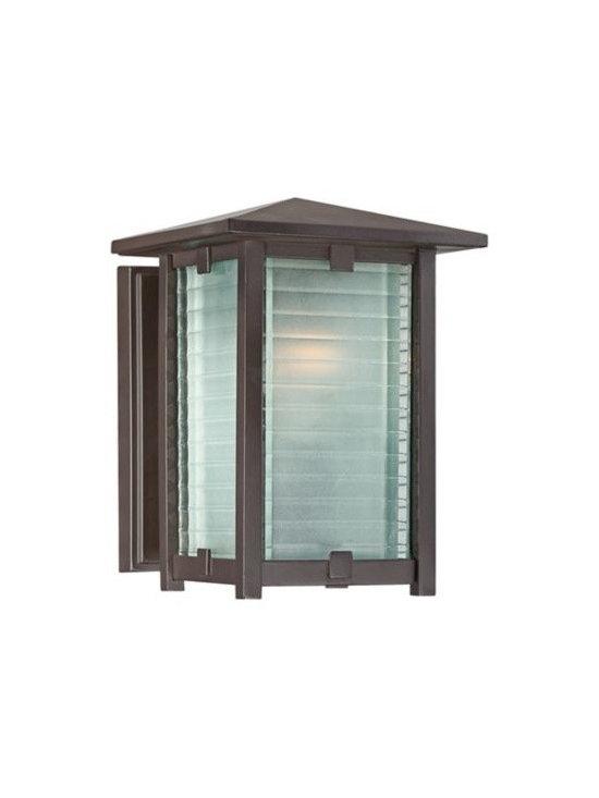 Cypress Bronze Aluminum 8-Inch-H Quoizel Outdoor Wall Light -