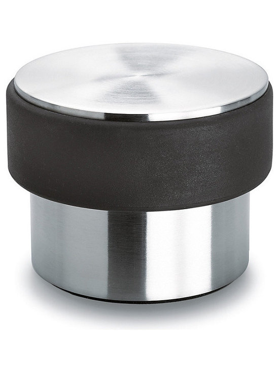 Blomus - Door Stopper - Stainless steel with anti-scratch rubber base and side to protect door and floor. Available in two sizes for light or heavy doors.