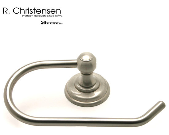 2119US15 Brushed Nickel Single-Arm Tissue Holder by R. Christensen - 7 by 4-3/8 inch traditional style single-arm tissue holder by R. Christensen in Brushed Nickel.