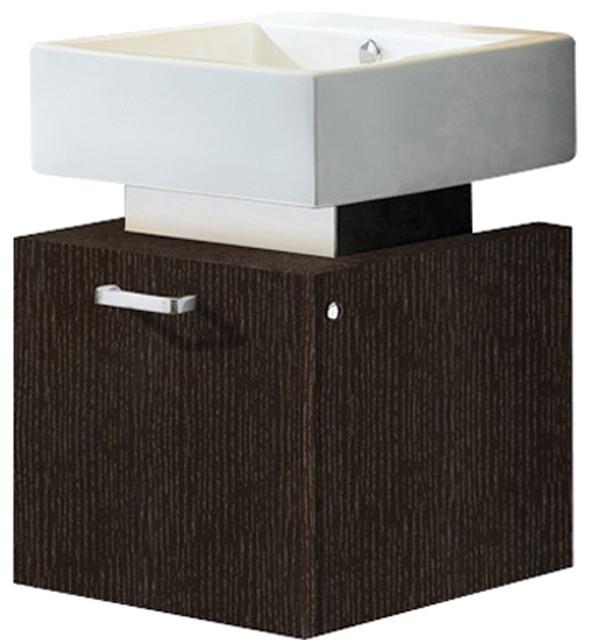 vigo 18 inch single bathroom vanity wenge without extras