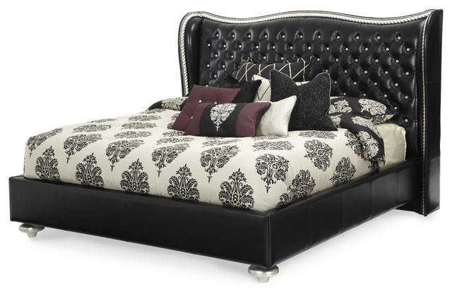 Hollywood Swank Starry Night King Upholstered Bed contemporary-beds