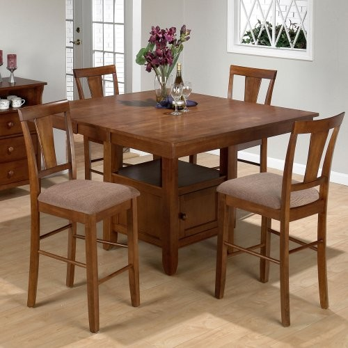 Square Counter Height Table And 4 Chairs Modern Dining Tables By