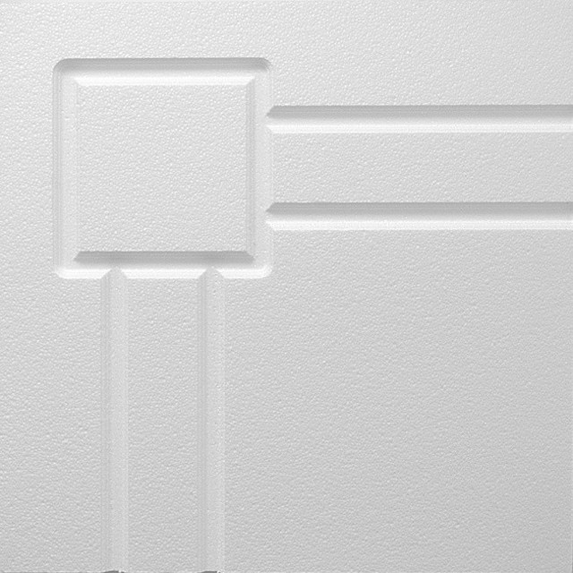 2x2 White Decorative Ceiling Tile - Detroit Design contemporary-molding-and-millwork