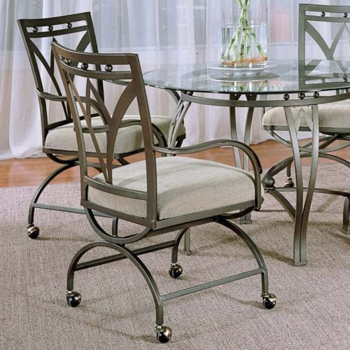 Dining Room Chairs With Rollers: Steve Silver Madrid Arm Dining Chairs With Casters