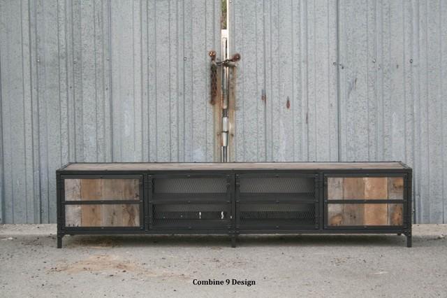 Media Console - Vintage Industrial/Mid Century Modern. Rustic. Reclaimed Wood.