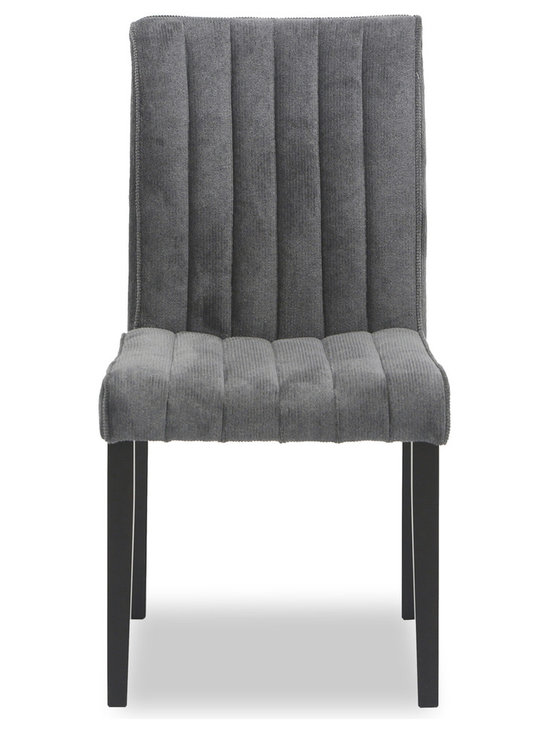 Bryght - Strip Ash Fabric Upholstered Dining Chair - The strip dining chair, with its sophisticated and contemporary style, offers long lasting comfort. This dining chair's unique display of individual parallel grooves sewn into its upholstery lends it a chic and luxurious feel