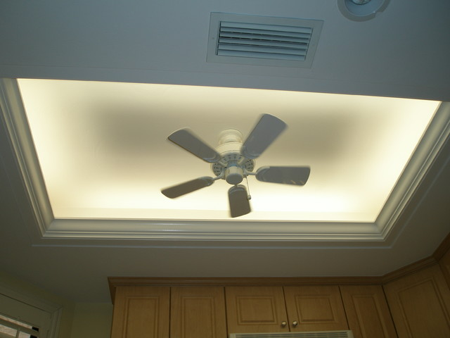 Thermofoil Kitchen With Trey Ceiling Other Metro By