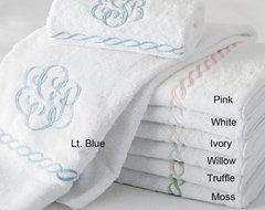 Classic Chain Towels by Matouk traditional-towels