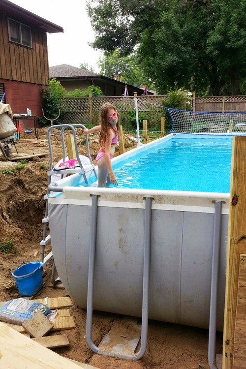 above ground pool with surround deckthis is exactly 500x374 deck