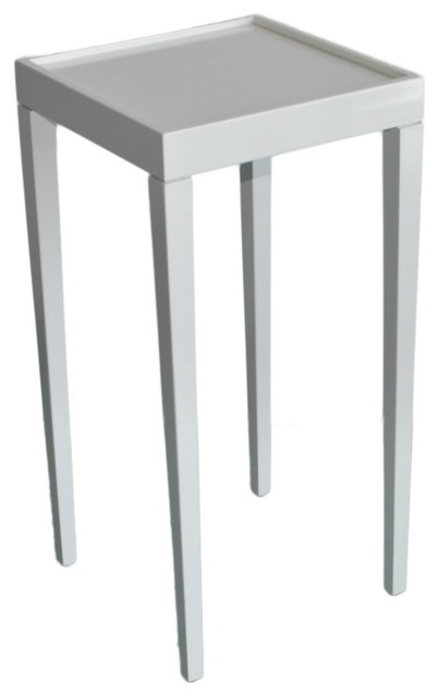 Tini I Accent Table - All White Lacquer contemporary-side-tables-and-accent-tables
