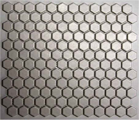 Unglazed Porcelain Mosaics, Matte Ice White traditional floor tiles