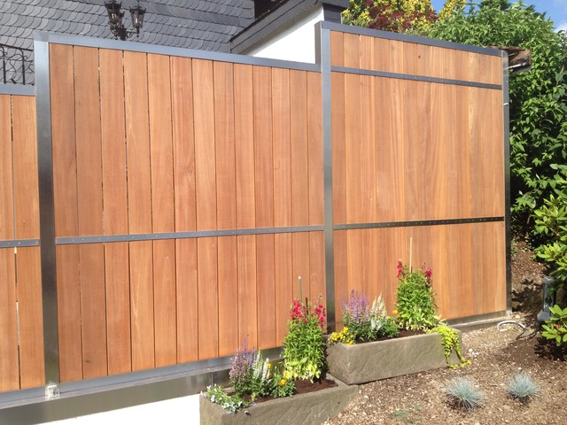 Modern Wood Fence : Contemporary Modern Wood Fence