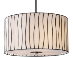 Lineas Drum Pendant contemporary pendant lighting
