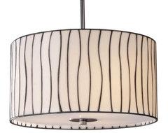 Lineas Drum Pendant contemporary-pendant-lighting