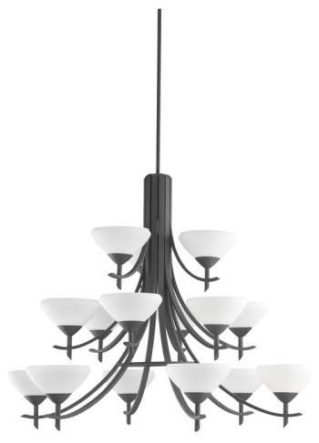 Kichler Lighting Kichler Olympia 1681DBK Chandelier - 42 in. - Distressed Black contemporary-chandeliers