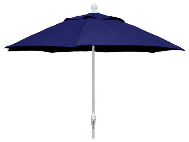 foot navy blue patio umbrella with white finish outdoor umbrellas