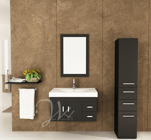 35.5 Lyra Single Bathroom Vanity modern bathroom vanities and sink consoles