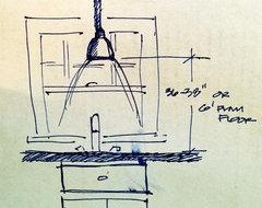 Height Of Pendant Light Over Kitchen Sink