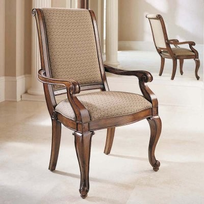 Bob Mackie Classic Upholstered Back Arm Chairs - 2 Chairs modern-dining-chairs
