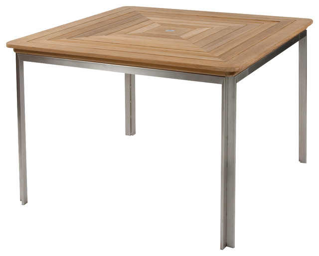 Square Dining Table By Kingsley Bate Modern Outdoor Dining Tables