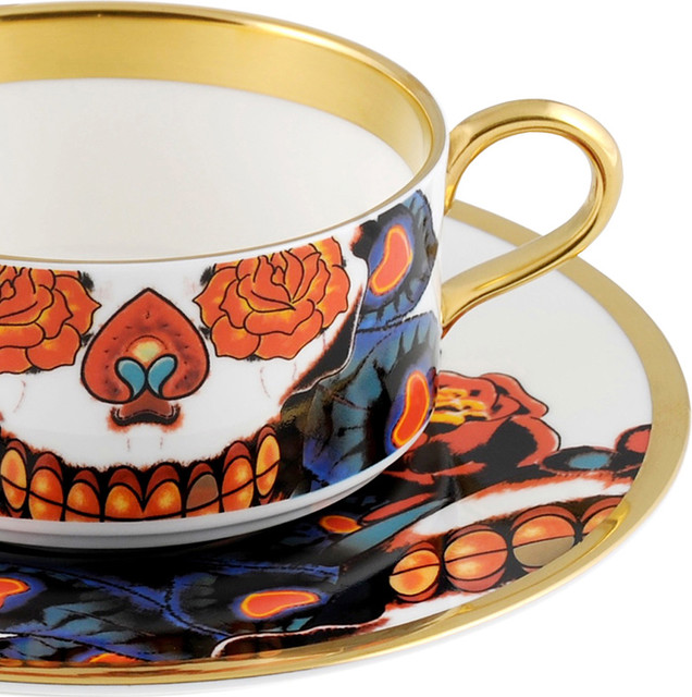 The New English Inkhead Teacup and Saucer modern-dinnerware